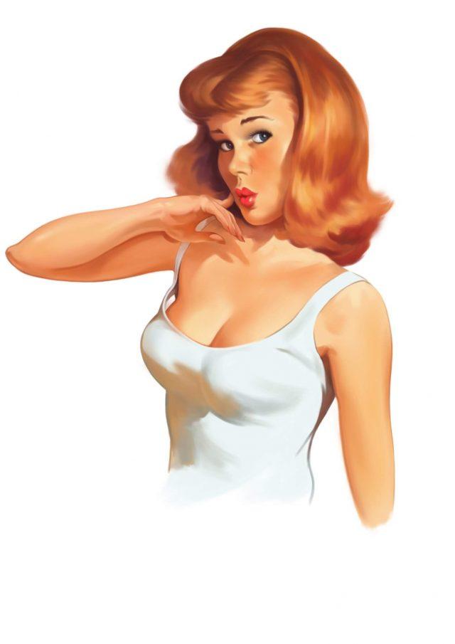 Redhead Pinup Girl
