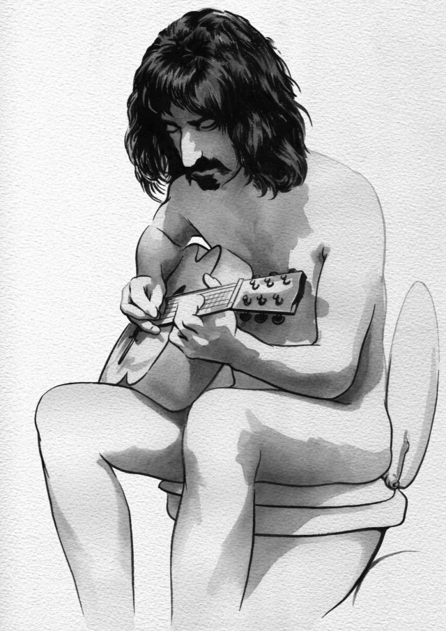 Frank Zappa on the crapper