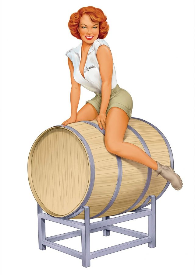 Pinup Girl on a Barrel