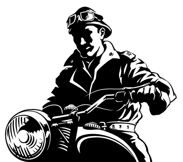 Revolutionary on a Motorcycle