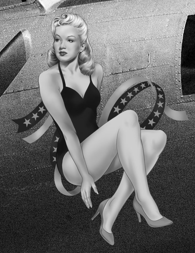 B17 Betty Grable nose art