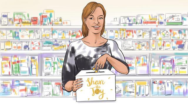Full colour TVC storyboard frame for National Pharmacies